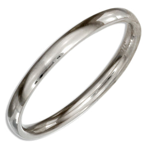 Stainless Steel 2mm Wedding Band Ring