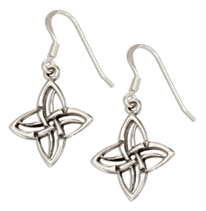 Sterling Silver Four Point Celtic Knot Earrings