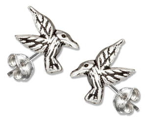 Sterling Silver Mini Hummingbird Earrings
