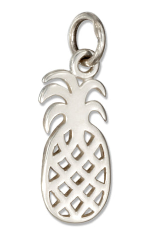 Sterling Silver Filigree Silhouette Pineapple Charm