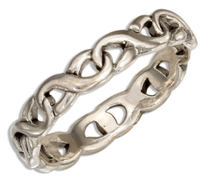 Sterling Silver Infinity Knot Band Ring