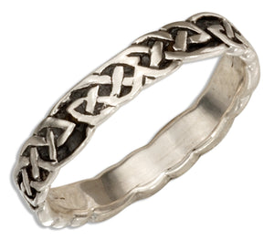 Sterling Silver 4mm Celtic Knot Band Ring