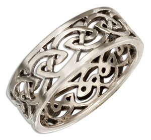 Sterling Silver 8mm Open Celtic Knot Band Ring