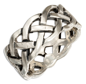 Sterling Silver Celtic Open Weave Band Ring