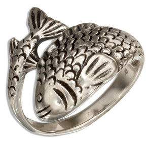Sterling Silver Wrap Around Fish Ring