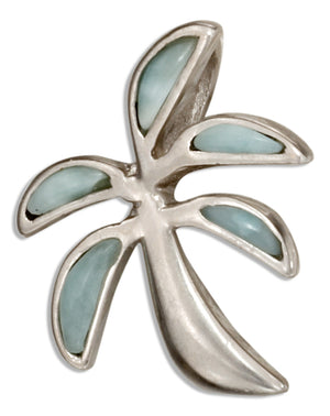 Sterling Silver Larimar Palm Tree Pendant