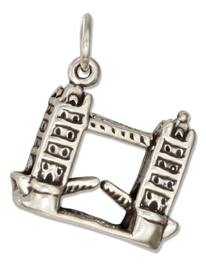 Sterling Silver 3D London Bridge Charm