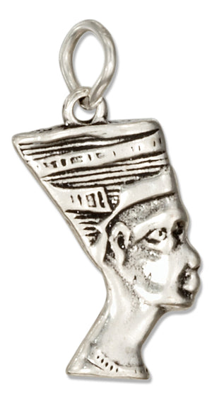 Sterling Silver Egyptian Queen Nefertiti Charm