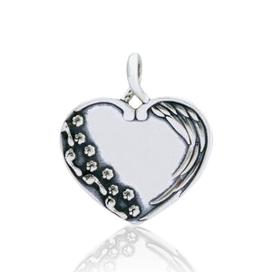 Sterling Silver Until We Meet Again Dog Memorial Heart Pendant
