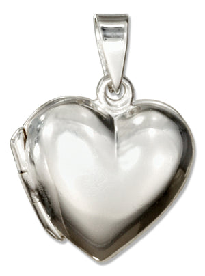 Sterling Silver Small High Polish Heart Locket