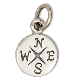 Sterling Silver Small Compass Charm
