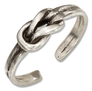 Sterling Silver Infinity Love Knot Toe Ring
