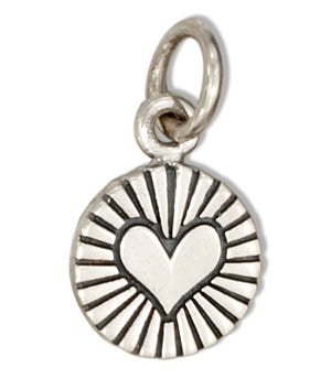 Sterling Silver Small Radiant Heart Charm