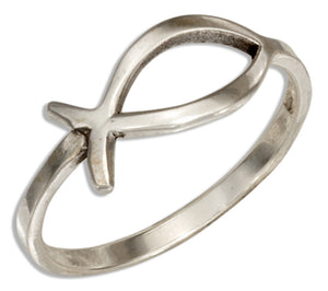 Sterling Silver Christian Life Fish Symbol Ring