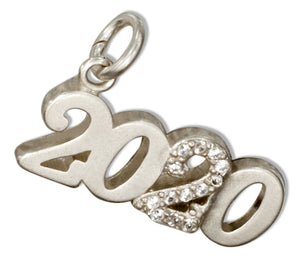 "Sterling Silver and Crystal Year ""2020"" Charm"