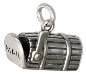 Sterling Silver 3D Mailbox Charm