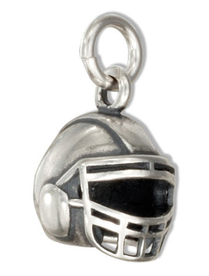 Sterling Silver 3D Football Helmet Charm