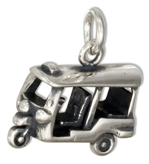 Sterling Silver 3D Golf Cart Charm