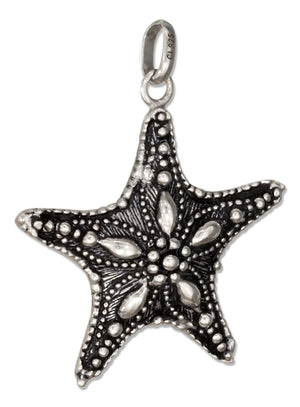 Sterling Silver 3D Starfish Charm