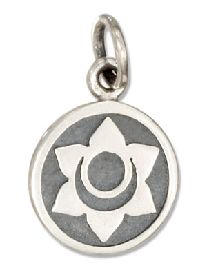 Sterling Silver Sacral Chakra 2nd Chakra Charm with Swadhisthana in Sanskrit