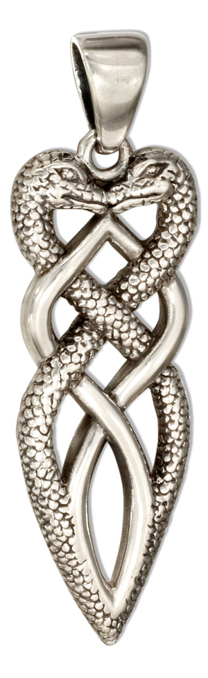Sterling Silver Twisted Celtic Snakes Pendant