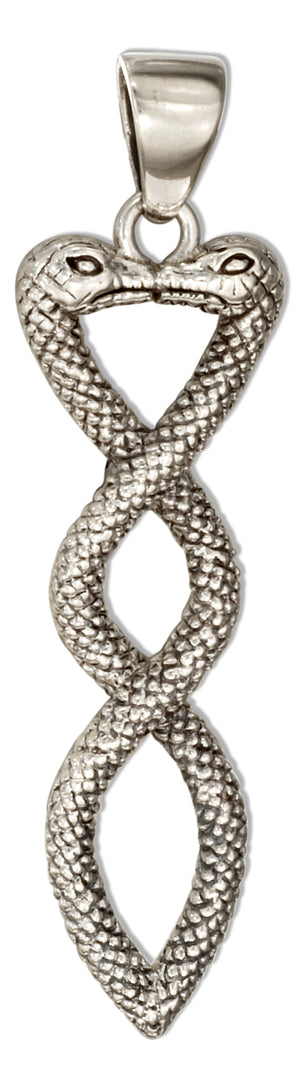 Sterling Silver Twisted Snakes Pendant