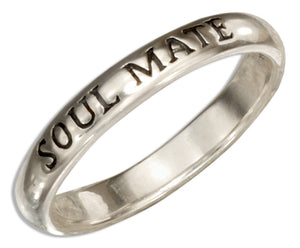 "Sterling Silver ""Soul Mate"" Band Ring"