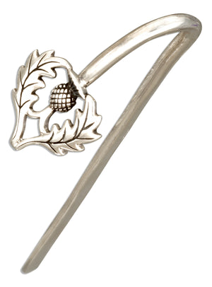 Sterling Silver Scottish Thistle Bookmark