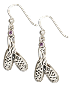 Sterling Silver Irish Step Dancing Shoes Earrings