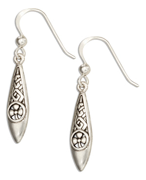 Sterling Silver Celtic Knot with Shamrock Earrings