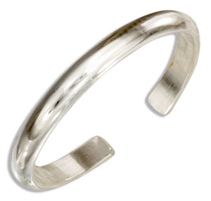 Sterling Silver 2mm Plain Band Toe Ring