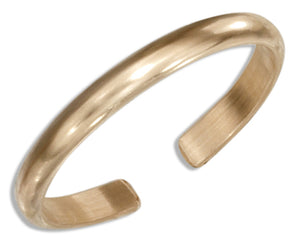 12 Karat Gold Filled 2mm Plain Band Toe Ring