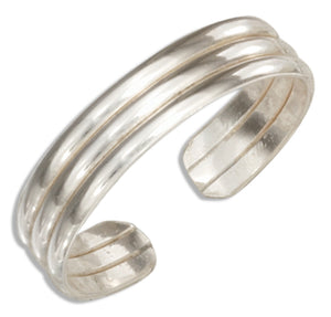 Sterling Silver Triple Band Toe Ring