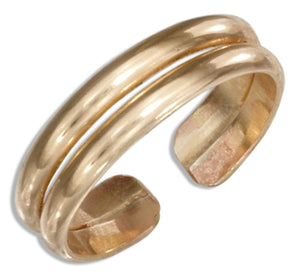 12 Karat Gold Filled Double Band Toe Ring