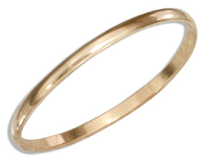 12 Karat Gold Filled 1mm Wedding Band Ring