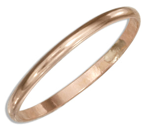 12 Karat Rose Gold Filled 1.5mm Wedding Band Ring