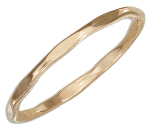 12 Karat Gold Filled Faceted Wire Band Ring