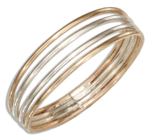 Sterling Silver and 12 Karat Gold Filled Four Band Ring