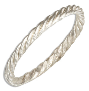 Sterling Silver Wire Rope Band Ring