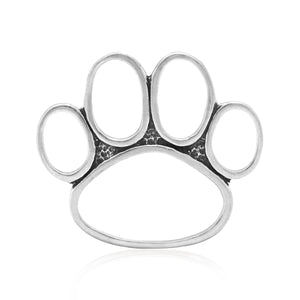 Sterling Silver Monster Paw Pendant Extra Large Open Dog Paw Print