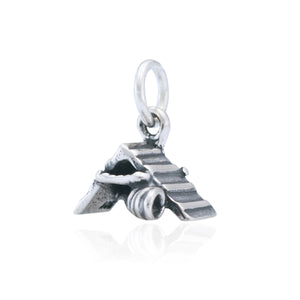 Sterling Silver Agility A-frame and Tunnel Dog Charm