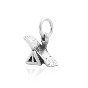 Sterling Silver Agility See-saw Teeter Dog Charm