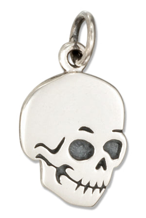 Sterling Silver Flat Skull Charm