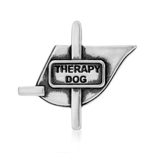 Sterling Silver Therapy Dog Vest Pendant