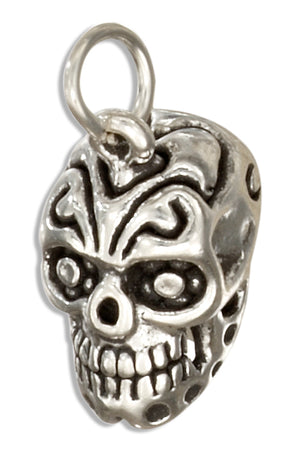 Sterling Silver 3D Mexican Sugar Skull Charm