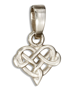 Sterling Silver Tiny Celtic Knot Heart Pendant