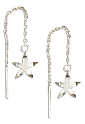 Sterling Silver Starfish Ear Thread Earrings