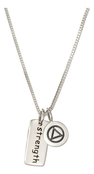 Sterling Silver 18 inch Recovery Strength Necklace