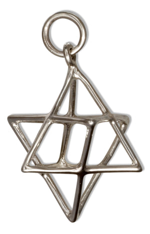 Sterling Silver Sacred Geometry Wire Merkaba Charm Pendant