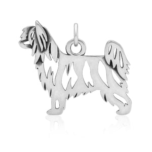 Sterling Silver Powder Puff Chinese Crested Dog Pendant Body